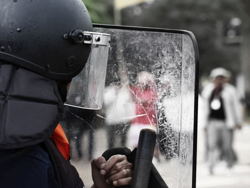 News Picture: Not Harmless: Rubber Bullets, Pepper Spray Rob Vision