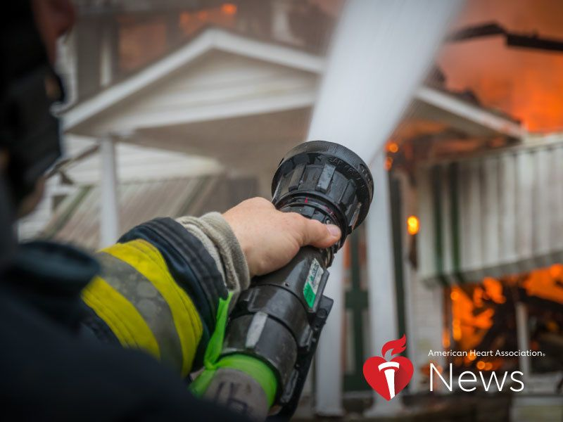 News Picture: AHA News: Fighting Fires Raises Risk for Irregular Heartbeat