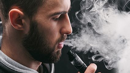 News Picture: One-Third of E-Cigarette Users Report Signs of Lung Damage: Study