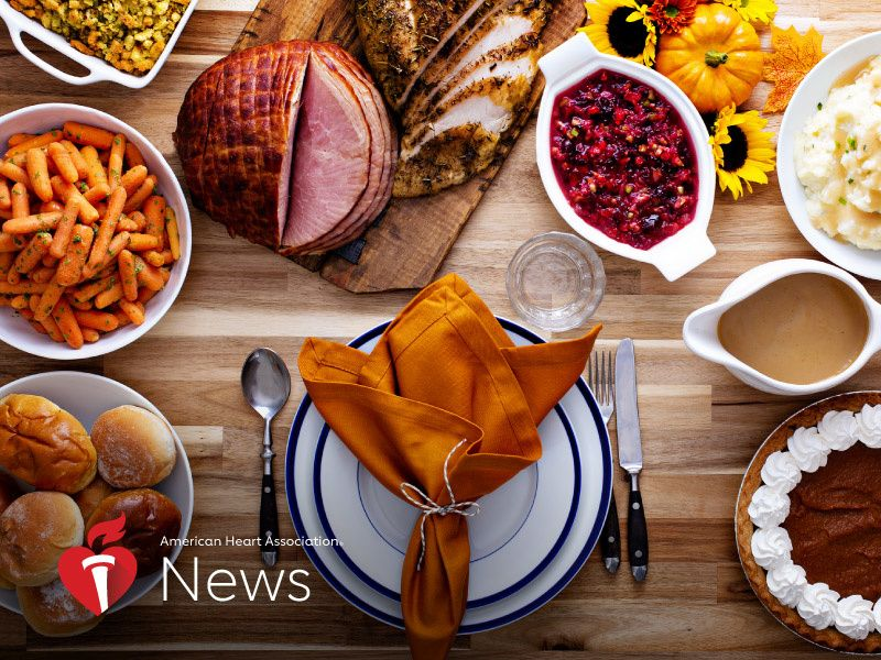 News Picture: AHA News: Tackling Turkey Day: Strategies for a Healthy Feast