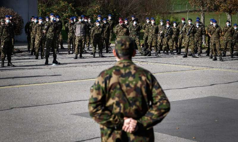 Swiss army reservists were deployed to support public hospitals