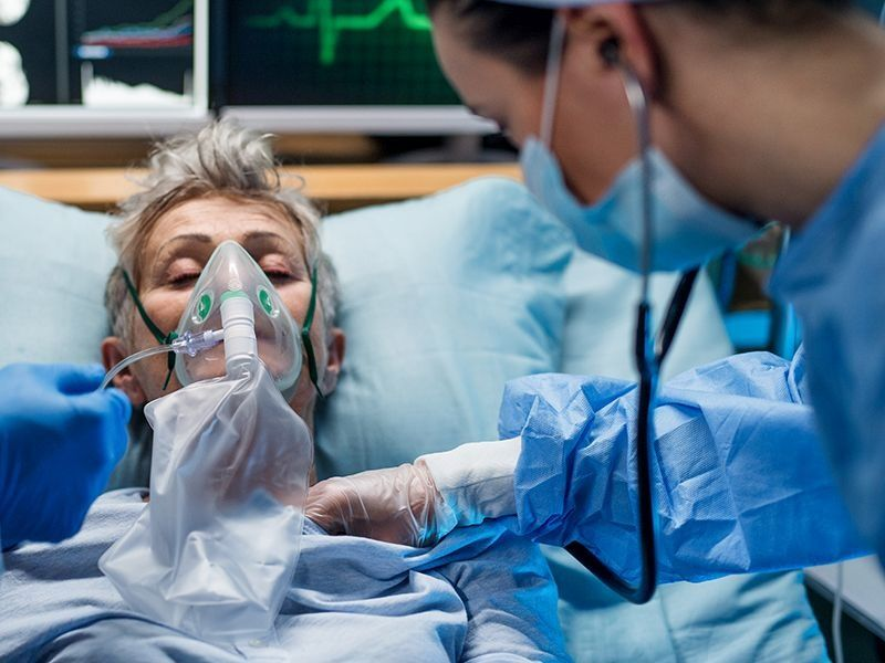 News Picture: COVID Hospitalizations in U.S. Hit Record High