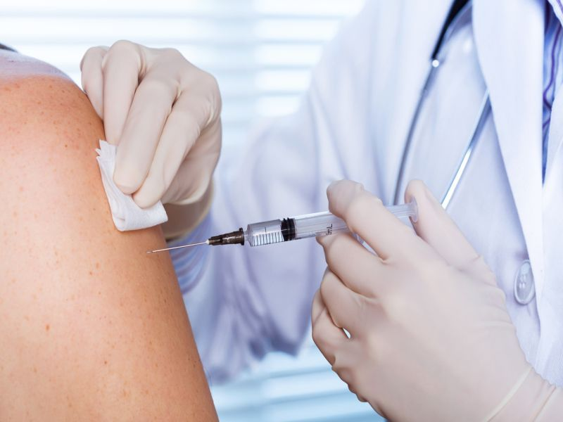 News Picture: Smile When You Get That COVID Vaccine, It'll Hurt Less