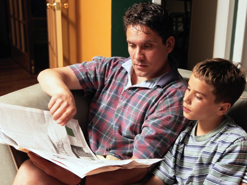News Picture: Involved Dads Make a Difference for Disadvantaged Teens