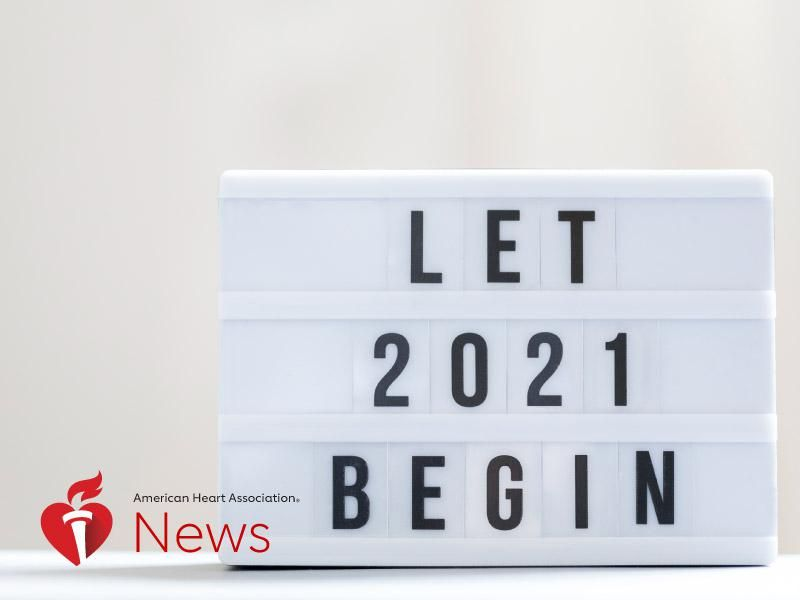 News Picture: AHA News: Here's to a Healthy 2021, With Resolutions From Heart Doctors