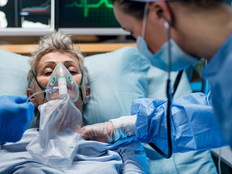 News Picture: Death Risk Nearly Doubles When COVID Strikes People With Heart Failure