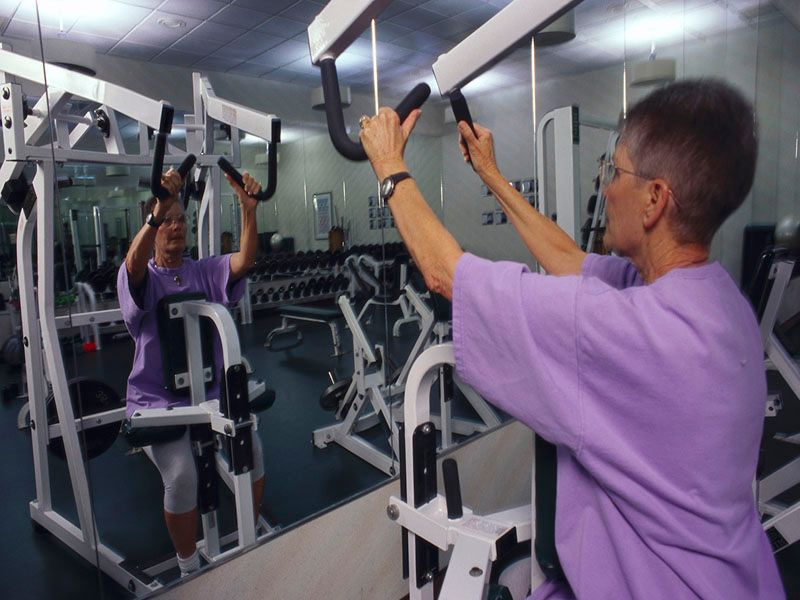News Picture: Weight Training Benefits Older Women, Men Equally, Study Shows