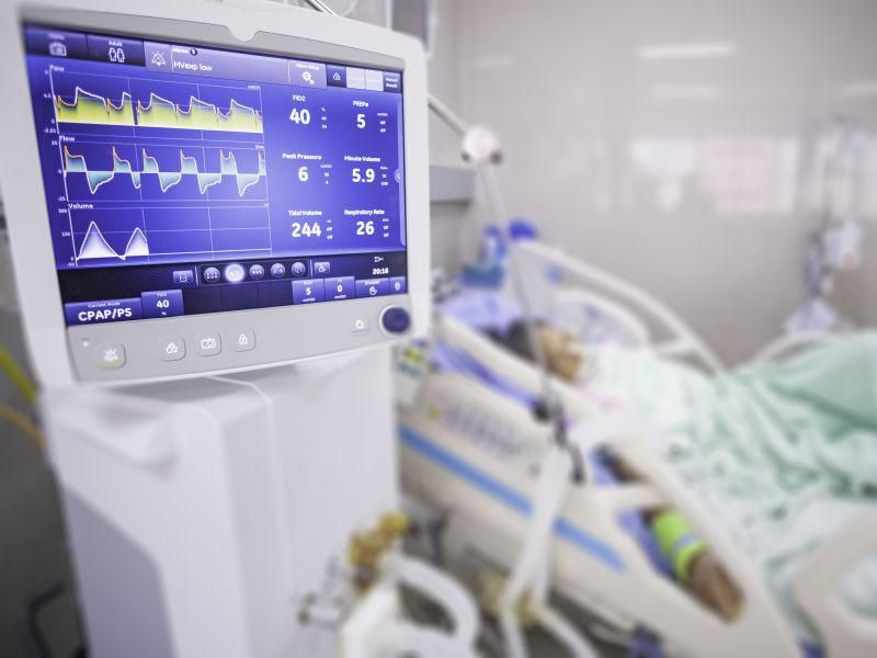 News Picture: When ICUs Near Capacity, COVID Patients' Risk for Death Nearly Doubles