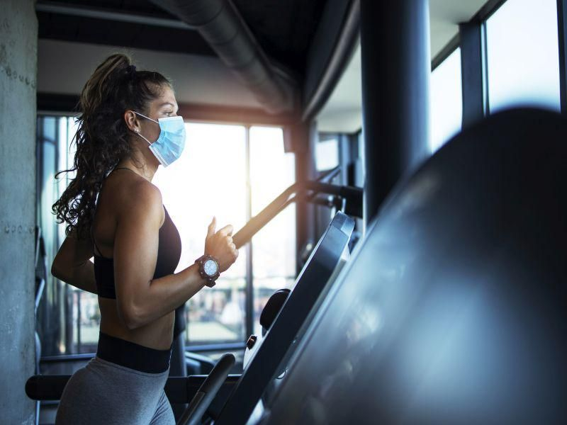 News Picture: Wearing a Mask Won't Ruin Your Workout, Study Shows