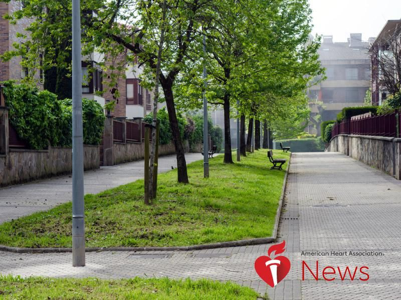 News Picture: AHA News: Study Links Green Communities to Lower Stroke Risk
